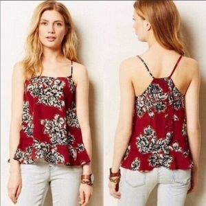 Maeve Floral Silk Tank Top Size 4